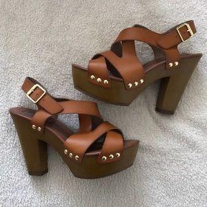 Steve Madden Lolitaa Cognac Heels
